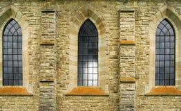 Ventanas de Vitrage de la abadía antigua Fotos de archivo libres de regalías