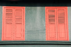 Ventanas decorativas Imagen de archivo libre de regalías
