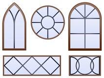 Ventanas decorativas ilustración del vector