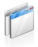 Ventanas del ordenador Fotografía de archivo libre de regalías