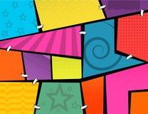 Ventanas del popart de los tebeos imagen de archivo libre de regalías