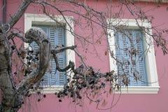 Ventanas en colores pastel Foto de archivo