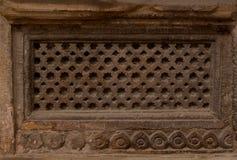 Ventanas esculpidas piedra Fotos de archivo