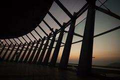 Ventanas grandes del pasillo de cristal Foto de archivo libre de regalías