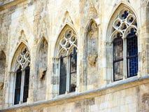 Ventanas góticas de la catedral Foto de archivo libre de regalías