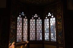 Ventanas hermosas en el castillo de Wartburg Eisenach, Alemania detalles Fotografía de archivo