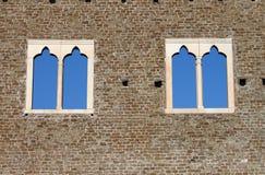 Ventanas medievales Imagen de archivo