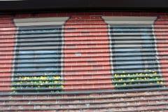 Ventanas pintadas Fotografía de archivo libre de regalías