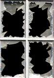 Ventanas quebradas Imágenes de archivo libres de regalías