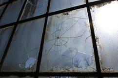Ventanas quebradas Imagen de archivo