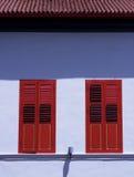 Ventanas rojas Imagen de archivo libre de regalías