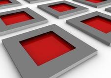 Ventanas rojas Foto de archivo libre de regalías