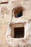 Ventanas tradicionales de Yemen fotografía de archivo