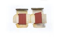 Ventanas viejas en Sare Imágenes de archivo libres de regalías