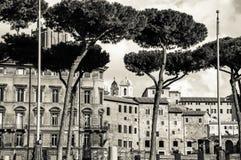 Ventanas viejas hermosas en Roma (Italia) Fotografía de archivo
