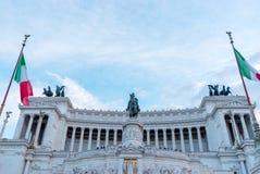 Ventanas viejas hermosas en Roma (Italia) 3 de diciembre de 2017: Monumento de Victor Emmanuel: Alt imagen de archivo libre de regalías