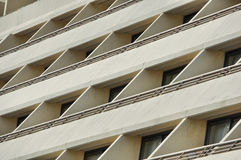 Ventanas y balcones de los edificios Fotografía de archivo