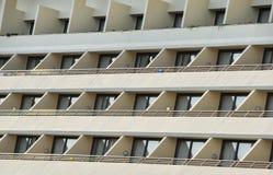 Ventanas y balcones de los edificios Imagen de archivo