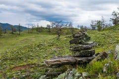 Ventania sobre o lago Baikal fotografia de stock