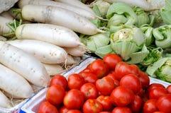 Ventas de Maketing, verduras frescas Foto de archivo libre de regalías