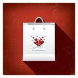 Ventas del día de tarjeta del día de San Valentín o carteles de las compras con Imágenes de archivo libres de regalías