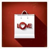 Ventas del día de tarjeta del día de San Valentín o carteles de las compras con Imagen de archivo libre de regalías