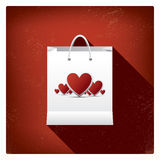 Ventas del día de tarjeta del día de San Valentín o carteles de las compras con Foto de archivo