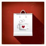 Ventas del día de tarjeta del día de San Valentín o carteles de las compras con Fotos de archivo
