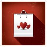 Ventas del día de tarjeta del día de San Valentín o carteles de las compras con Imagenes de archivo