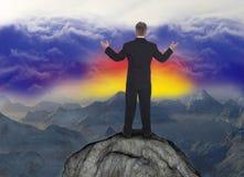 Ventas del negocio que comercializan éxito de las metas Imagen de archivo libre de regalías