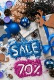 Ventas el días de fiesta de la Navidad y del Año Nuevo Fotografía de archivo libre de regalías