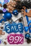 Ventas el días de fiesta de la Navidad y del Año Nuevo Fotos de archivo libres de regalías