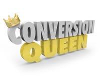 Ventas Person Woman Selling Expert Advice del top de la reina de la conversión Fotografía de archivo