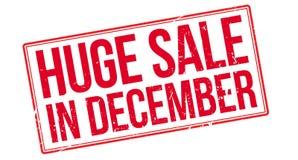 Vente énorme en décembre illustration de vecteur