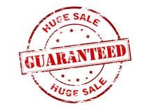 Vente énorme garantie illustration stock