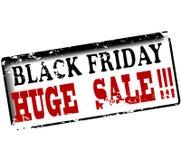 Vente énorme noire de vendredi illustration de vecteur