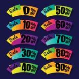 Vente Étiquettes de prix discount bannière d'offre ce week-end spéciale, vers le haut de Images stock
