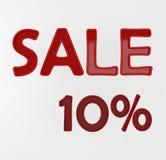 Vente 10% Photographie stock libre de droits