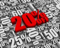 Vente 20% hors fonction ! Image libre de droits