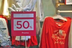 Vente 50 Photographie stock libre de droits