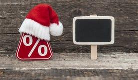 Vente, achats et remises pour des cadeaux de Noël Photographie stock libre de droits