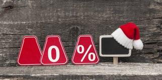 Vente, achats et remises pour des cadeaux de Noël Images libres de droits