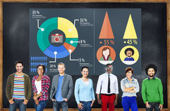 Vente analytique d'analyse partageant le concept de diagramme de graphique Image libre de droits