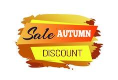 Vente Autumn Discount Poster Vector Illustration Photographie stock libre de droits