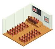 Vente aux enchères classique Hall Interior Image stock