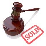 Vente aux enchères vendue Images libres de droits