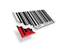 Vente cassée de code barres Photographie stock libre de droits