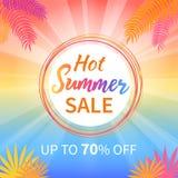 Vente chaude d'été jusqu'à l'affiche de promotion de 70 pour cent Photographie stock libre de droits