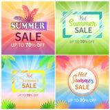 Vente chaude d'été jusqu'à 70 outre des bannières promotionnelles Photographie stock