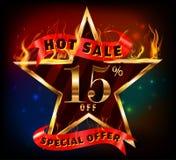15%, vente chaude de remise de 15 ventes avec l'offre spéciale Image stock